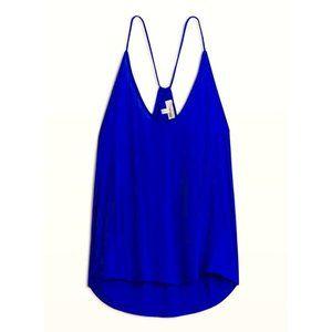 Cobalt blue tank top Aritzia